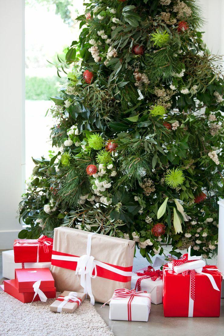 Photo: Christmas tree with native Australian plants and flowers ...