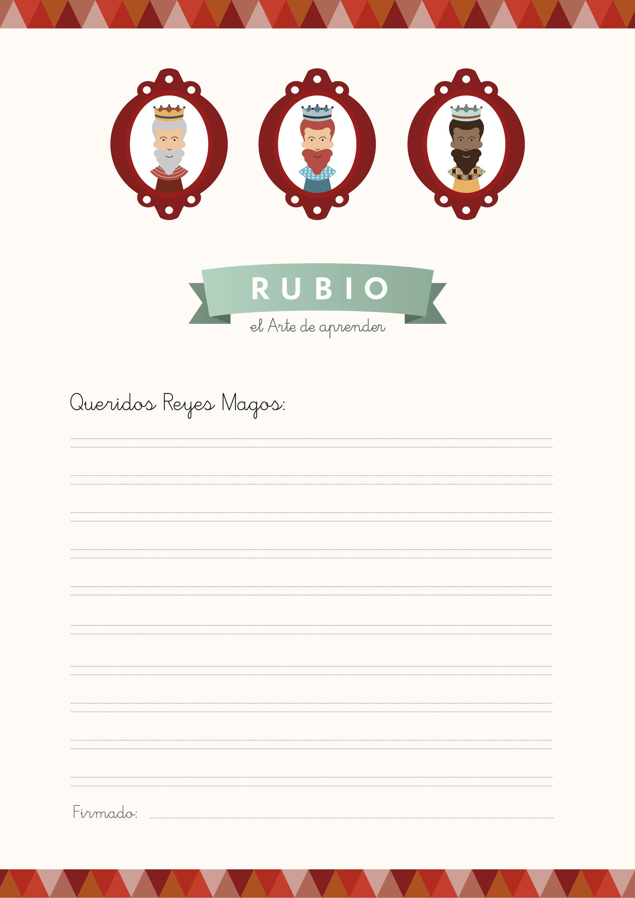 Worksheet. Carta de los Reyes Magos para imprimir de Cuadernos Rubio  Cartas