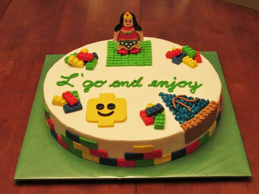 This retirement cake was made for an Elementary School Gifted and Talented teacher.  She led many Lego, Math and Odyssey of the Mind teams, through her many years of teaching.  The Wonder Woman is a symbol of her outstanding ability to do anything for our students.  Wonder Woman was sculpted with fondant.