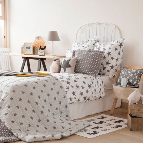 bettwÄsche mit grossem stern - bettwäsche - schlafen   zara home ... - Kinderzimmer Gestalten Wohnaccessoires Zara Home