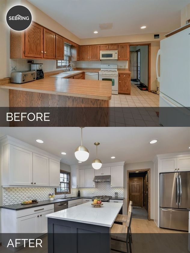 Justin Carina's Kitchen Before After Justin Carina's Full Unique Naperville Kitchen Remodeling Concept
