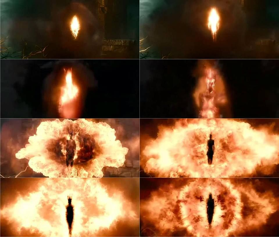I LOVE HOW PETER DID THIS SCENE BECAUSE IT WASNT THE BORING NECROMANCER IS SAURON DIALOGUE BUT HE SHOWED US VISUALLY AND IT WAS AMAZING