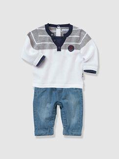 Ensemble bébé pull et pantalon  - vertbaudet enfant