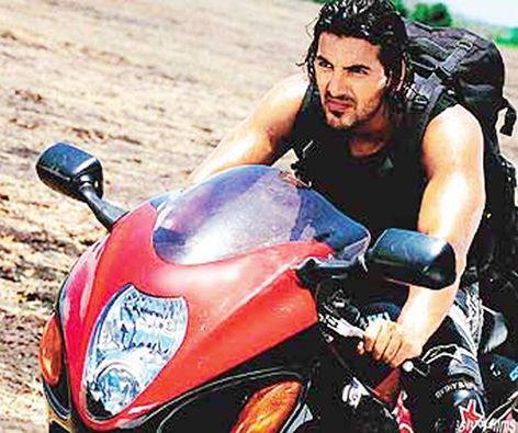 Johnabraham Himself Performed The Stunts And Executed It Without A Helmet In The Movie Dhoom Ek Villain John Abraham Funny Wallpapers