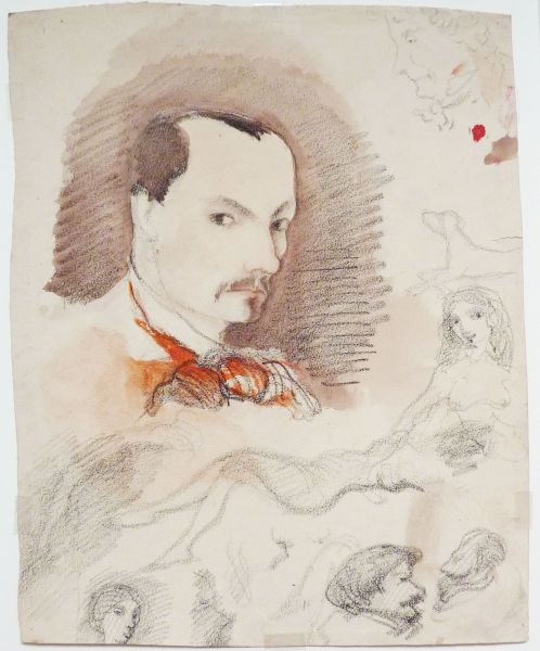 Charles Baudelaire French Poet 1821 1867 Self Portrait And