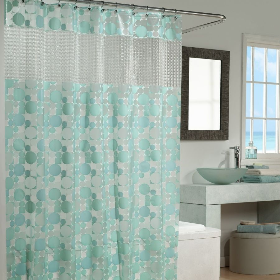 Superior Shower Curtains U2013 Glass Films Instead Of Shower Curtains   Interior Design    The Typical Ordinary Bathroom Shower And Windows Plastic Curtains Most Of  The ...