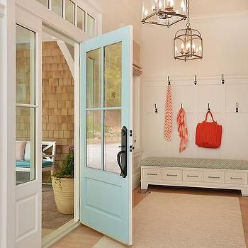 Turquoise Front Door, Cottage, Laundry Room