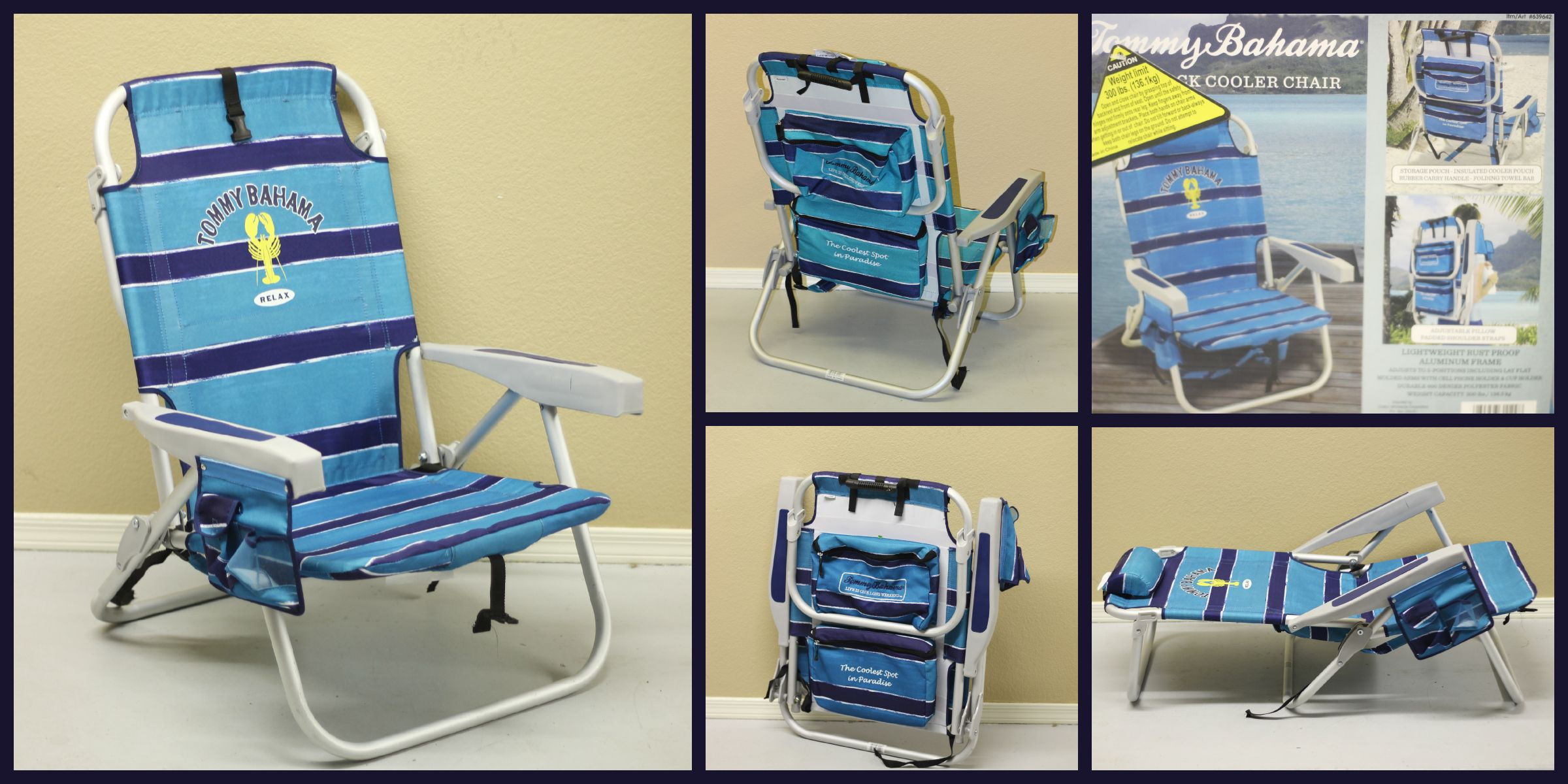 Lay Down Beach Chairs Office Chair Next Many Different Positions Including Completely Laying Easy To Carry With A Backpack Set Up Plus Pockets For Drinks And Misc Items