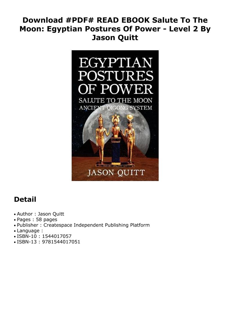 Pd F Salute To The Moon Egyptian Postures Of Power Level 2 Dtd Pdf Ebook Epub Doc Audiobook Ebook Independent Publishing Audio Books