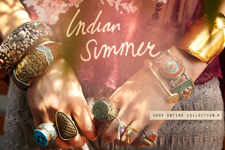 Free People Summer line - love all the chunky accesories together