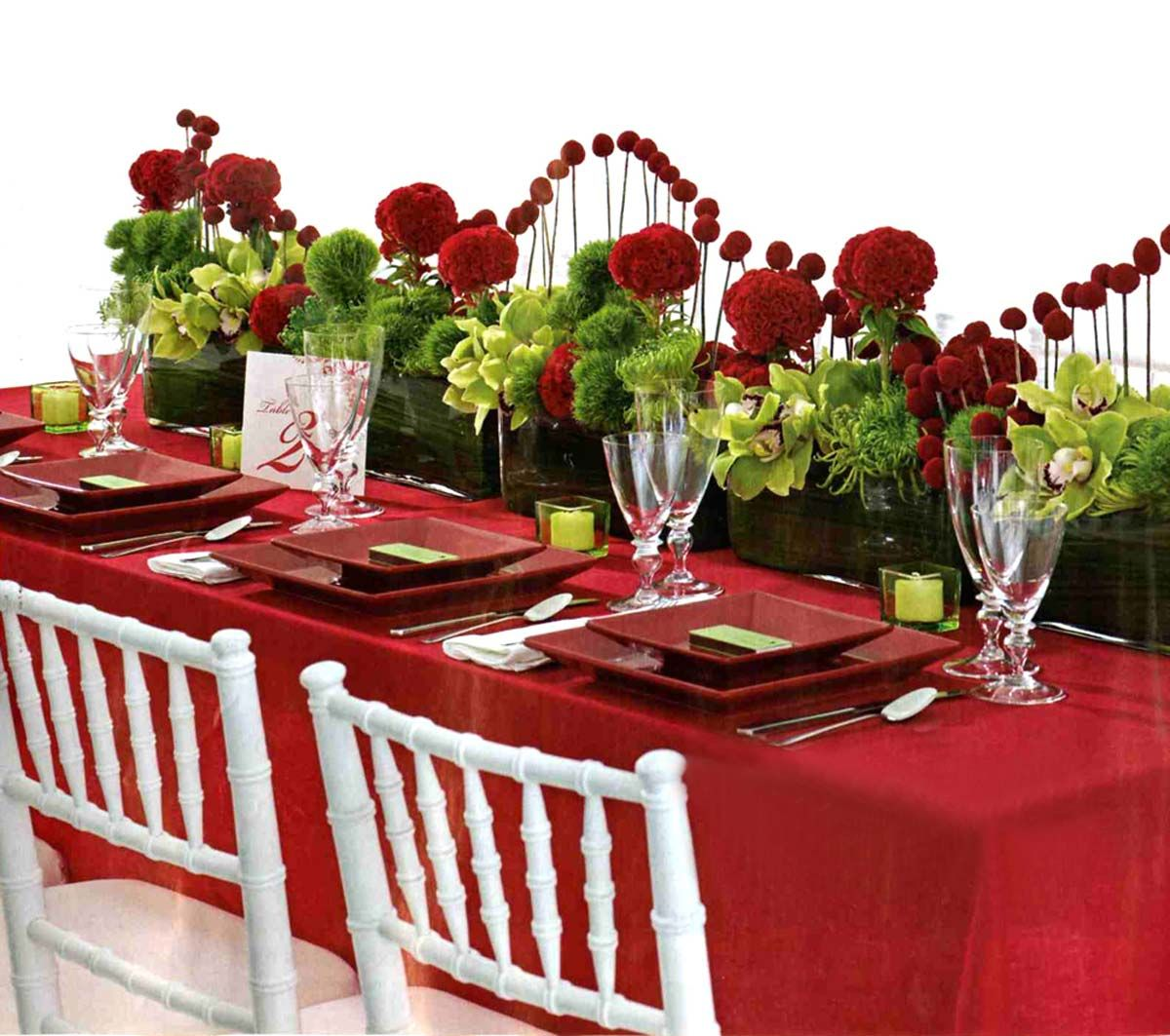 Lovely Valentines Table Decoration Ideas With Cute Red Table Cloth And  Simple Green Candle Lighting For Valentine Table Decoration Design Ideas