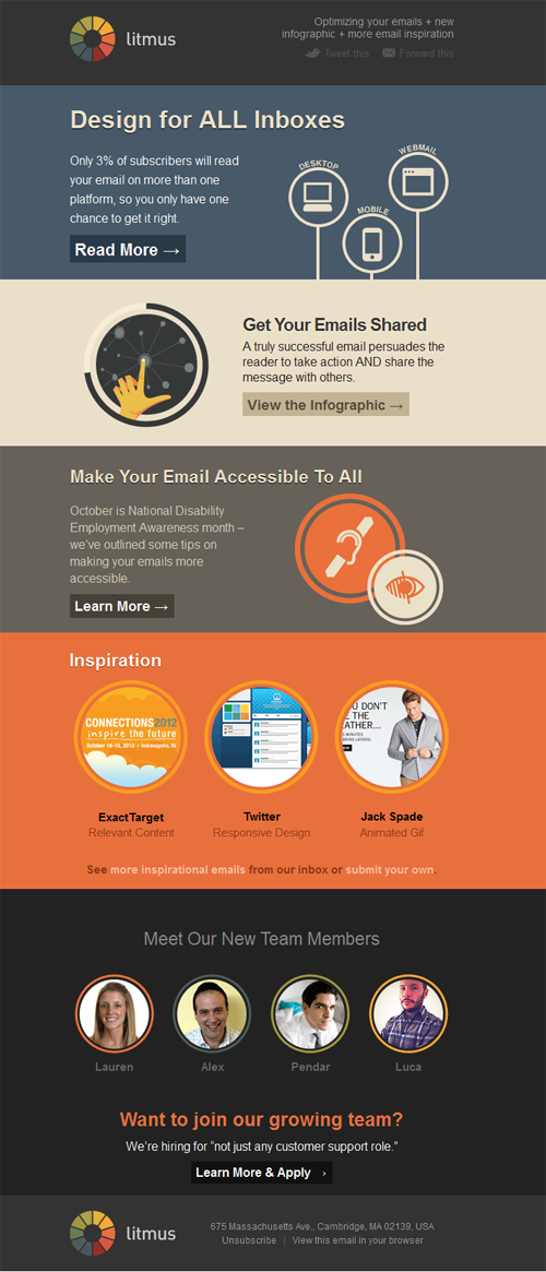 Beautiful Email Newsletters Blog Archive Litmus BEN - Litmus free email templates