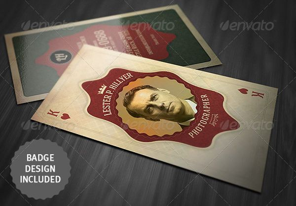 The idea of making a business card look like a traditional playing in this business card round up we list some creative vintage and retro business card templates reheart Gallery