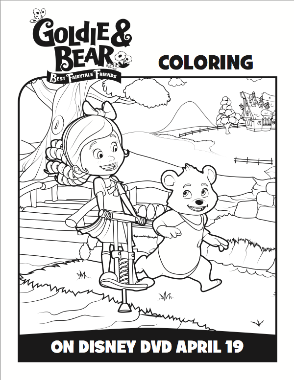 Free Goldie And Bear Coloring Pages From Disney Junior Mommy Mafia Bear Coloring Pages Coloring Pages Disney Coloring Pages