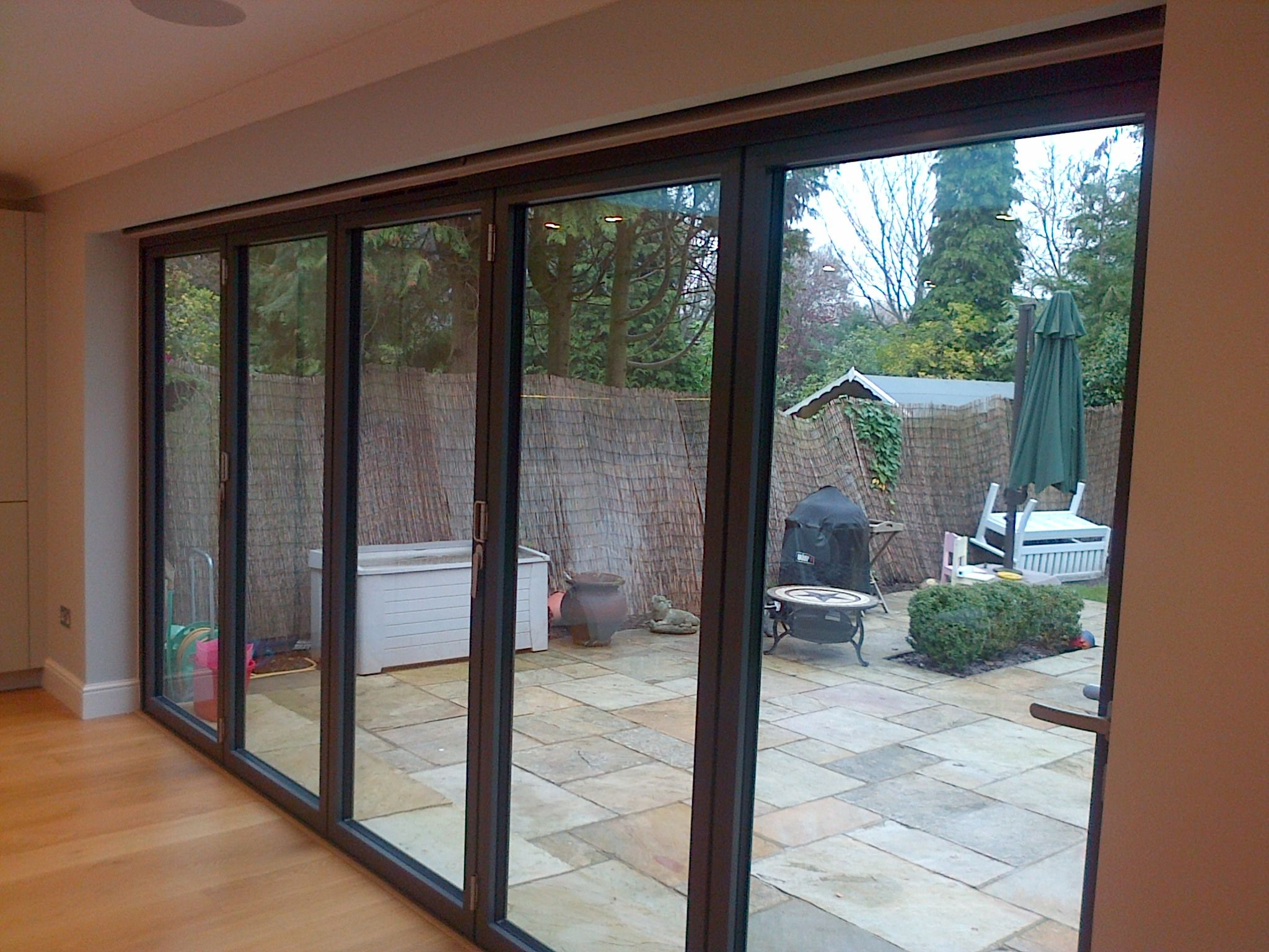 Totally Hidden From View When Not In Use These Electric Blinds By Deans Blinds Awnings Look Amazing Patio Door Blinds Patio Doors Sliding Patio Doors