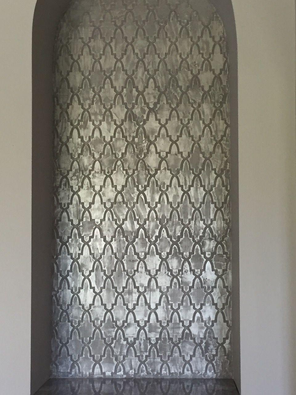 Metallic Niche Background Decorative Finishes For Canvas