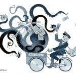octopus, mail, post man, aquarium, bike, and bicycle
