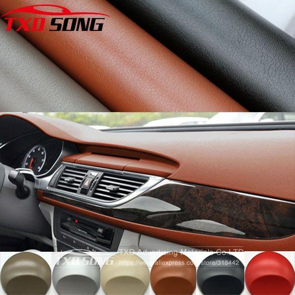 152cmx50cm Leather Pattern Pvc Adhesive Vinyl Film Stickers For Auto Car Body Internal Decoration Vinyl Wrap Car Leath Vinyl Wrap Car Vinyl For Cars Vinyl Wrap