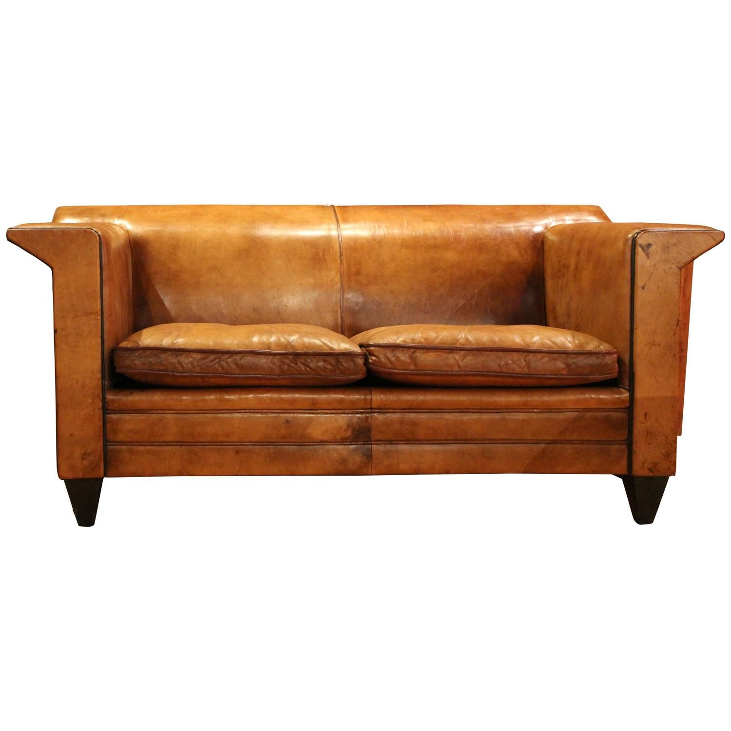 Dutch Leather Sofa By Bart Van Bekhoven