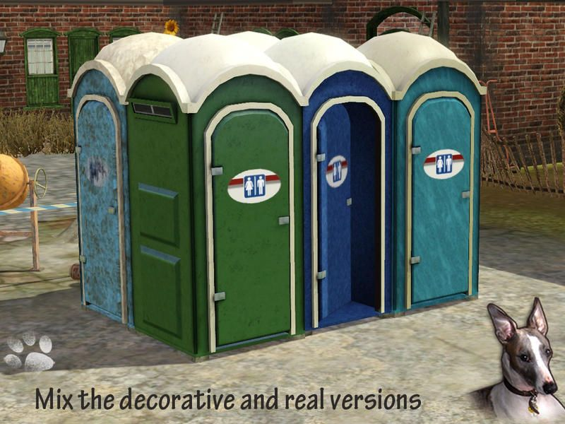 Bathroom Stalls Sims 3 cyclonesue's porta-potty portable toilets | the sims 3 community
