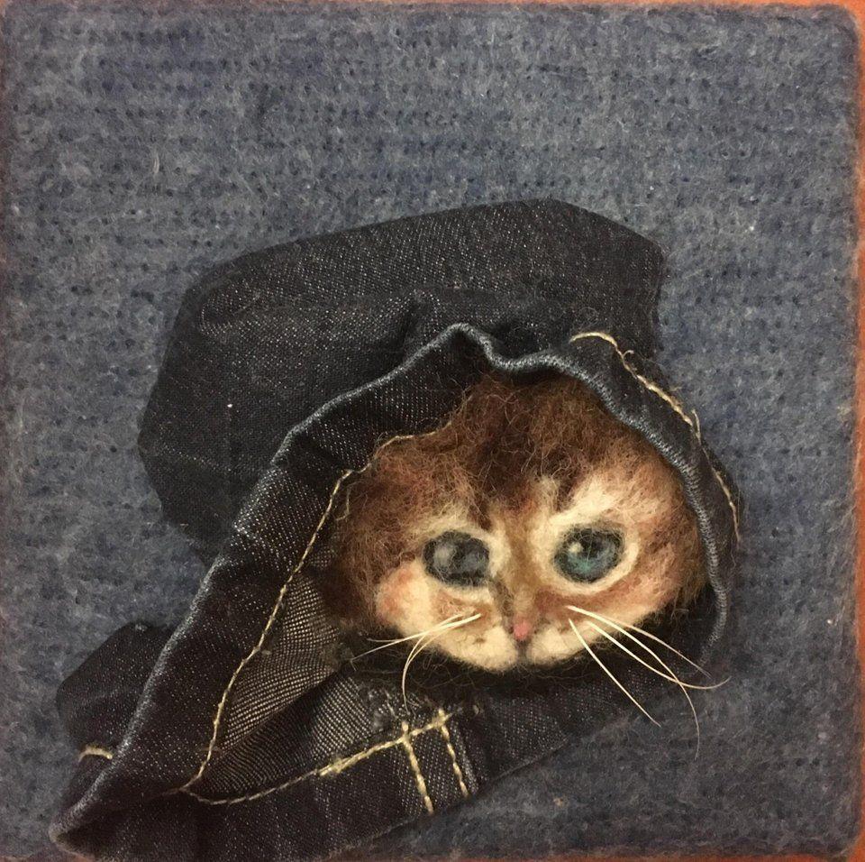 My needle felted kitten 🐱 Needlefelting Needle felting