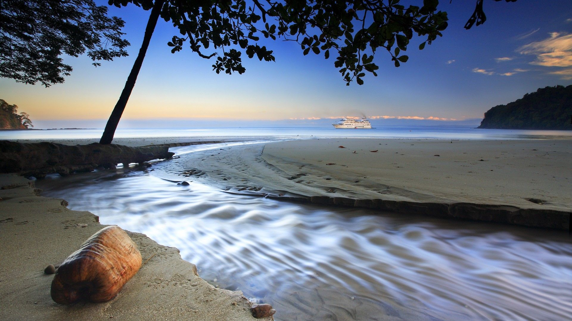 Fond ecran paysage nature plage hd punta arena costa rica for Photo nature hd gratuit