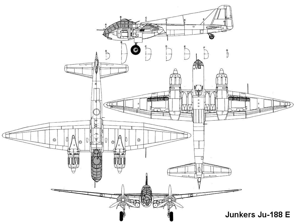 The Junkers Ju 188e On The Drawing Board