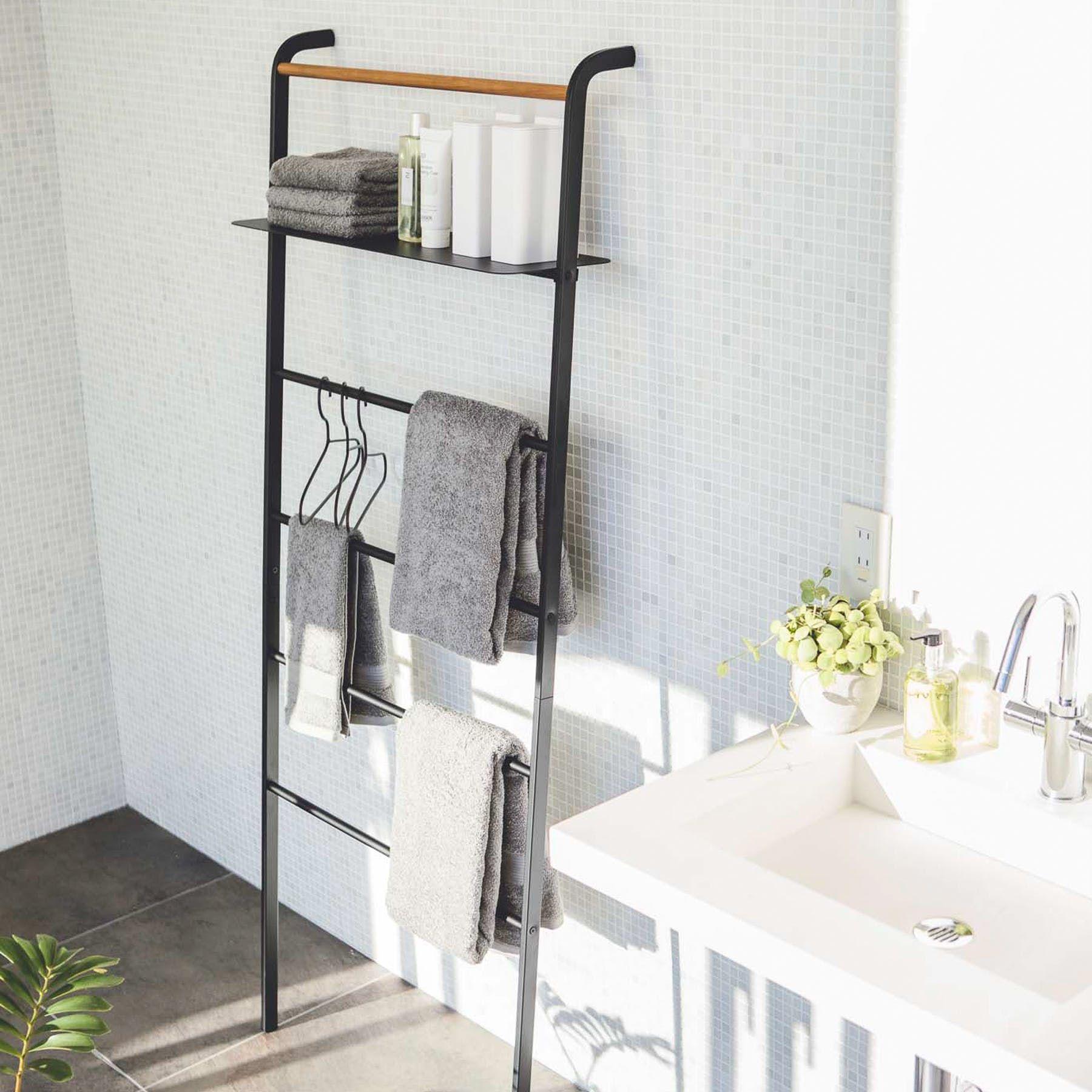 Tower Leaning Ladder With Adjustable Shelf Ladder Hanger