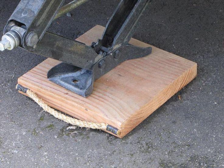 Diy caravan foot block or a base for the jack urlaub