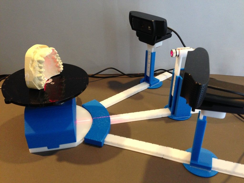 Print Your Own 3D Scanner Kit (for IntriCAD Triangle