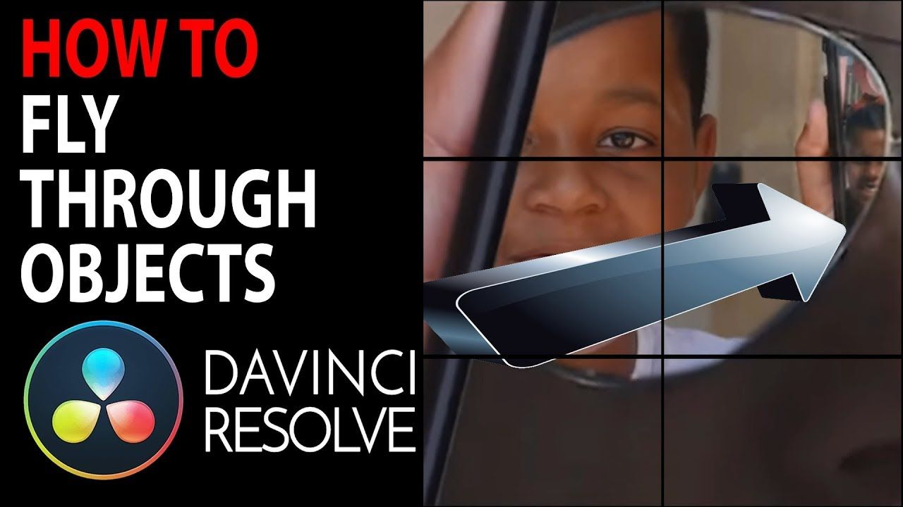 HOW TO Fly through Objects in Videos Davinci Resolve 15