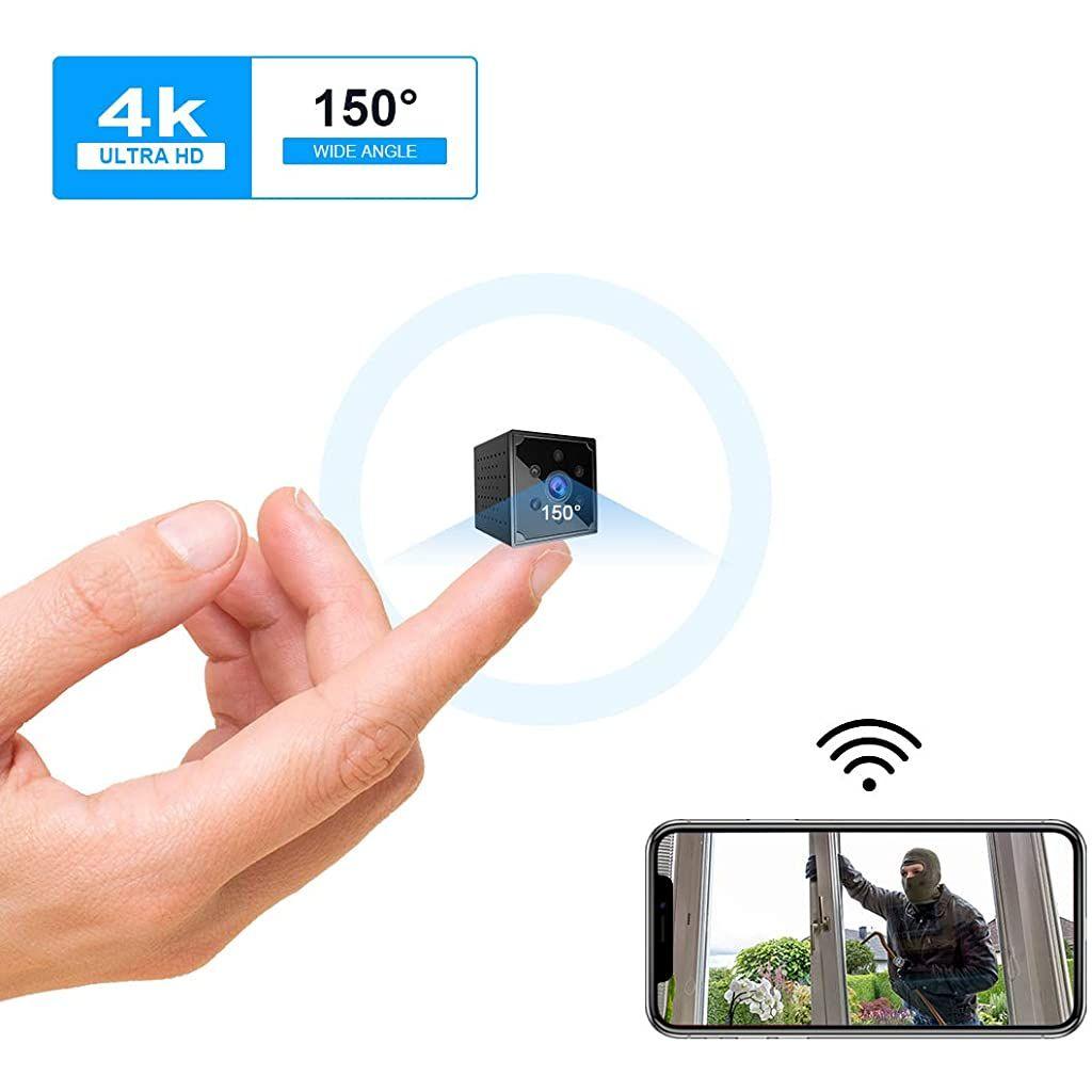Mini Kamera Kean 4k Hd Mini Uuml Berwachungskamera Lange Batterielaufzeit Kompakte Kleine Wlan Sicherheitskamera F Uu Uberwachungskamera Handy App Mini Kamera