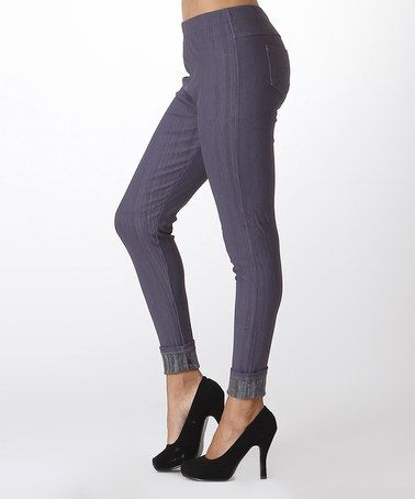 ca1b5b845997b This Charcoal Fleece-Lined Jeggings - Women by LARA Fashion is perfect!  #zulilyfinds