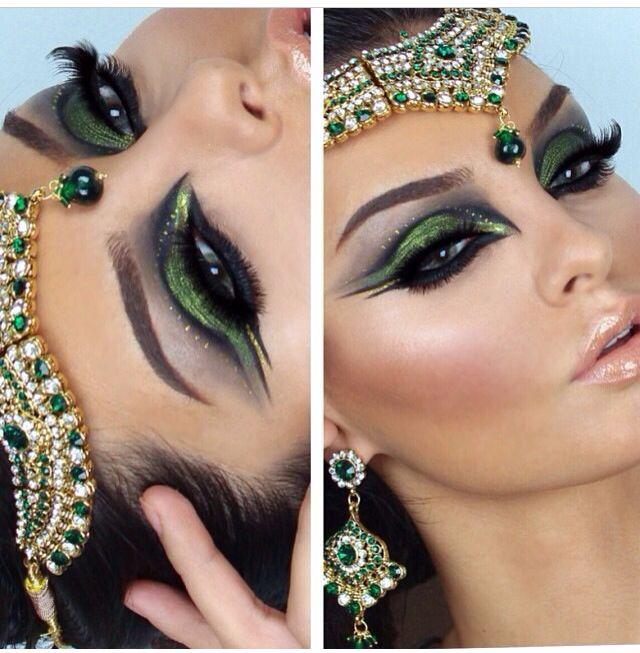 5dd7bc287 Maquillaje de disfraz cleopatra | maquillaje de ojos en 2019 ...