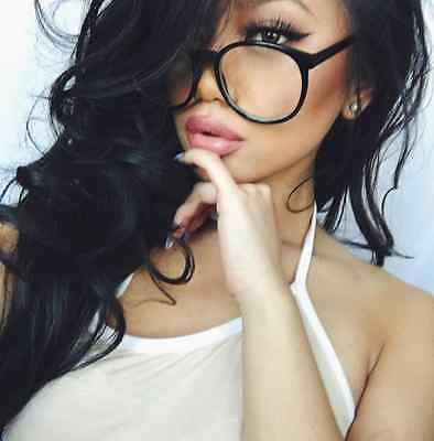 e8e2d15178b Clear Glasses Oval Round Plastic Frame Women Large Big Eyeglasses 100% UV  Lenses vassfashion  shopvass  butfirstsunnies