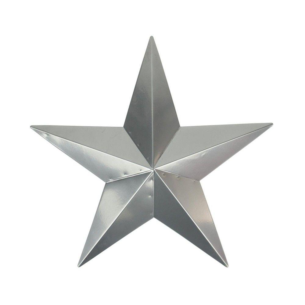 Northlight 3' Silver Steel Country Rustic Star Indoor