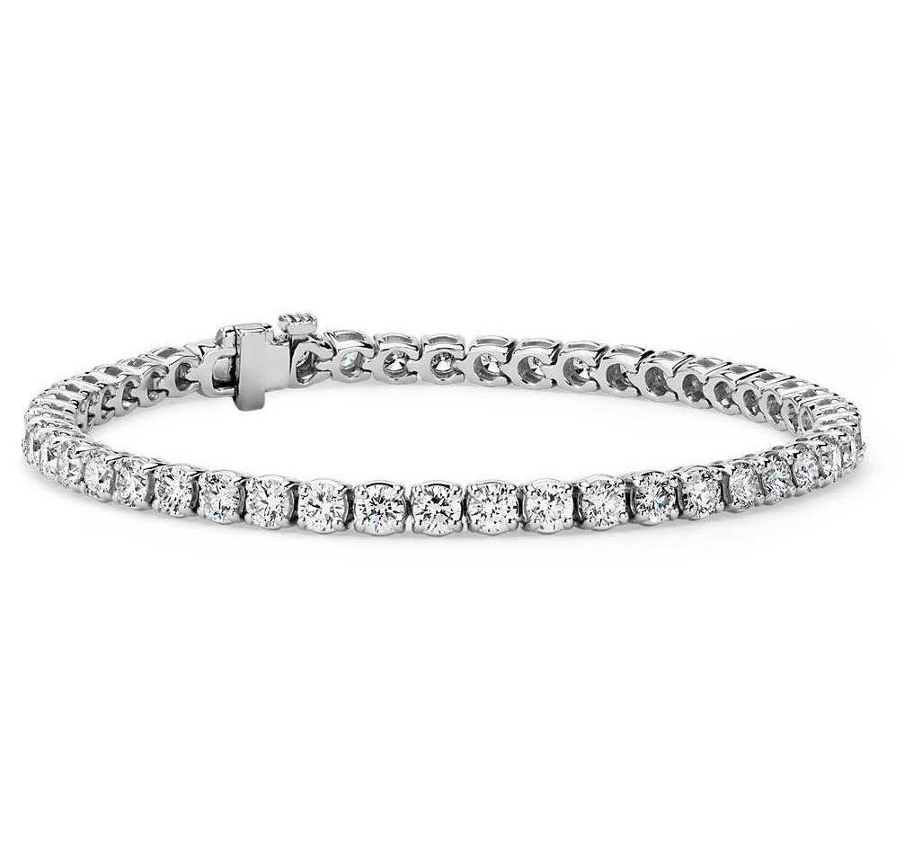 Diamond Tennis Bracelet In 18k White Gold F Si2 10 1 2 Ct Tw Tennis Bracelet Diamond Tennis Bracelet Bracelets