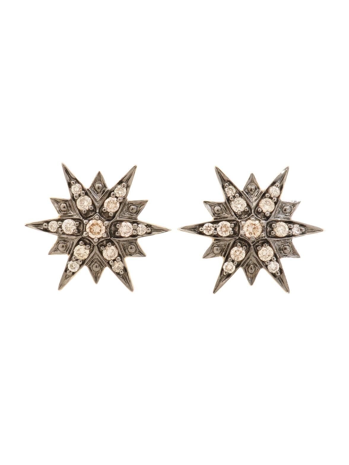 H.Stern Noble Gold Diamond Stud Earrings at London Jewelers.