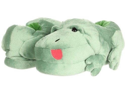 Stride Rite Boys Frog Slippers with Sound