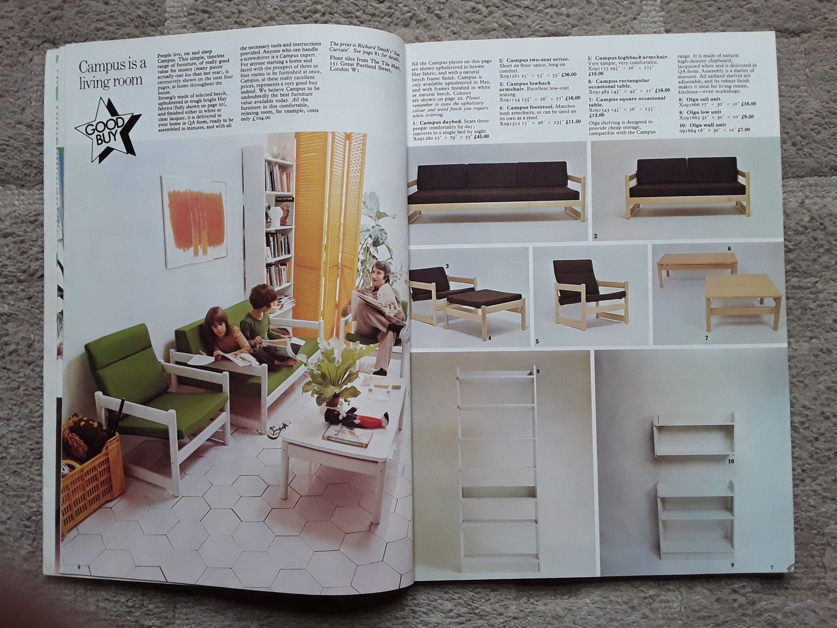 Habitat Catalogue 1972 1970s Decor Vintage Interiors Decor