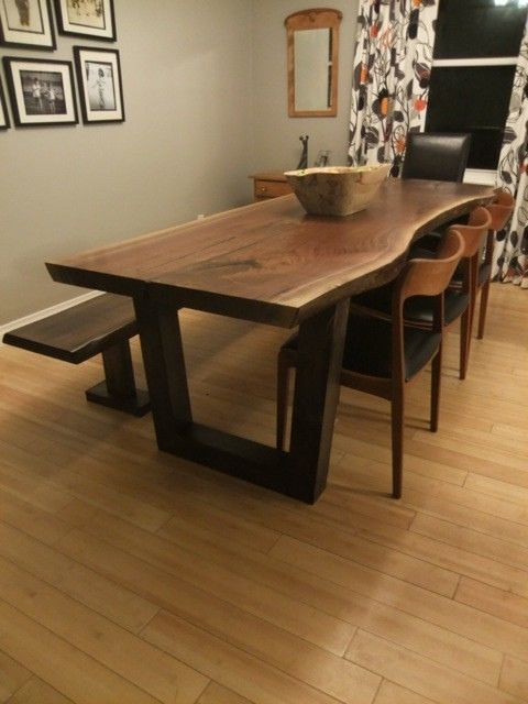 Live Edge Dining Table Inspiration For Your Dining Room | Dining Room  Design, Dining Room Table And Black Wooden Chairs Good Looking