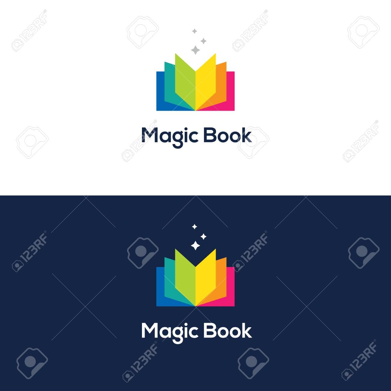 Colorful Open Book Logo Aff Open Colorful Logo Book