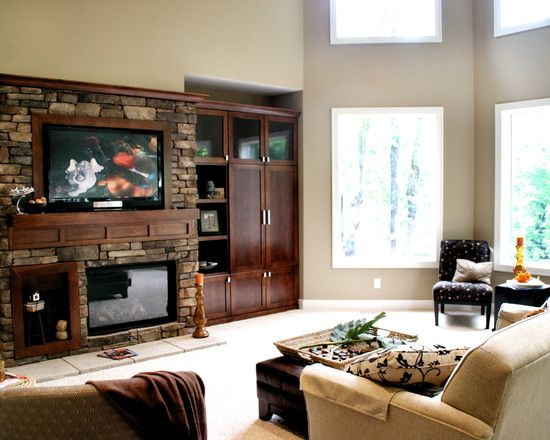 Like This Layout For Tv And Built In On The Side Living Room Remodel Family Room Home