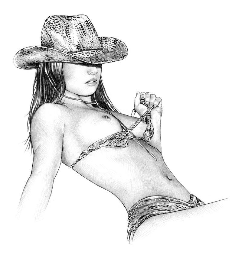 sexy women cops nude sketches