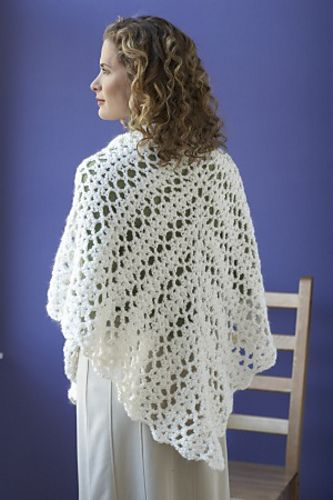 Ravelry: Bridal Shawl #80205AD pattern by Lion Brand Yarn | Crochet ...