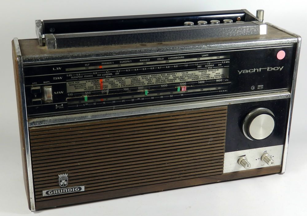 Vintage Grundig Yacht Boy Portable Radio Untested Spares Repairs Radio Vintage Radio Portable Radio