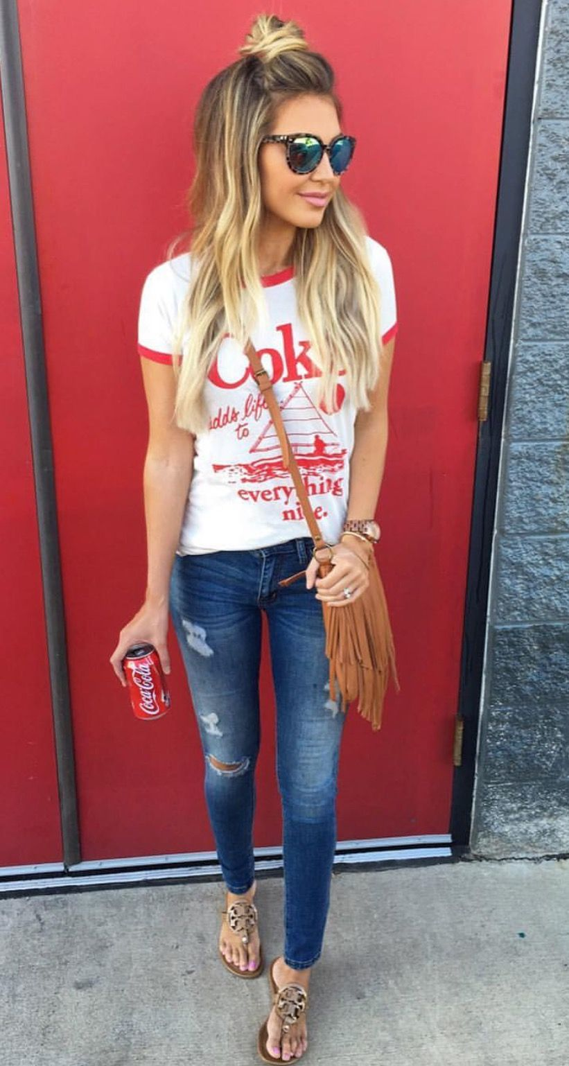 Casual Look Haare T Shirt And Jeans My Style Lässiger Look Kleidung Und