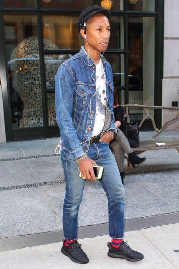 Celebrities Wearing Yeezy Boost Sneakers  Pharrell Williams df46e4d77
