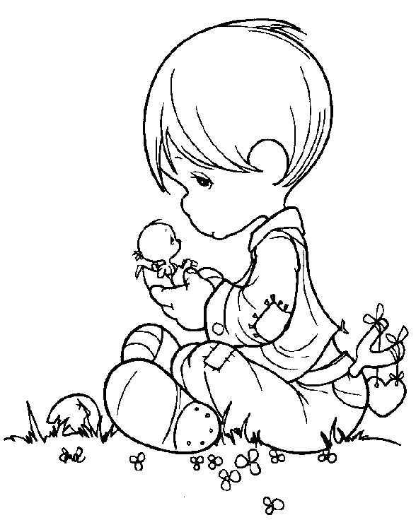 precious moments angels coloring pages | Precious Moments Angel Boy ...