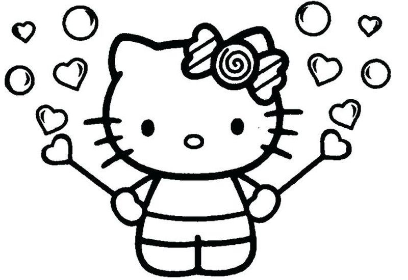 Free Coloring Pages Of Hello Kitty In 2020 Hello Kitty Coloring Hello Kitty Colouring Pages Kitty Coloring